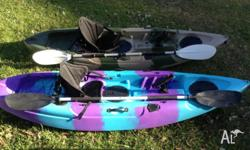 Up 4 sale is my 2 fishing kayaks in very good condition