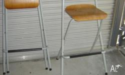 Ikea Franklin bar stools folding metal frames with