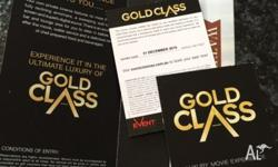 Two Gold Class Movie Tickets $60 Original price $82
