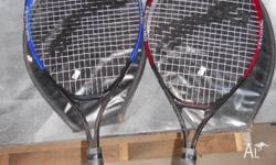 2 kids tennis raquets, no strings are broken only used