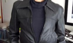 Fonzie style black leather Jacket in mint condition,