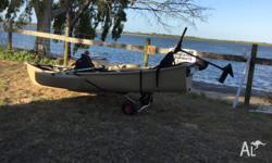 2 man canoe built in floatation, water proof storage,
