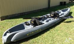 FOR SALE 2 MAN VIKING TEMPO FISHERMAN KAYAK EXCELLENT