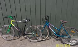 2 adult 26inch wheel mountain bikes , both are in