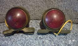 Two Old Rubber Mounted Truck Trailer Lights, Truck