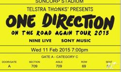Selling two One Direction 'On The Road Again Tour'