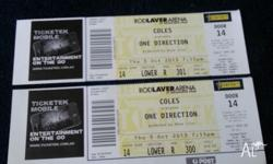 Hi, I'm selling 2 One Directio tickets for $200 each.