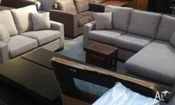 2 Pce Fabric Lounge, 2 seater + 3 seater with