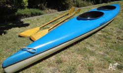 The kayak is around 30 years old but is in good