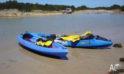 Aqua 2 Kayak, 2 paddles & removable wheels. Very