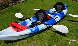Great kayak for 2 people, includes Paddles, Clp on