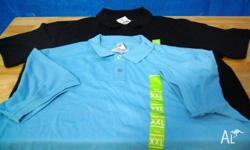2 Polo's Size XXL Navy Blue & Light Blue Postage at