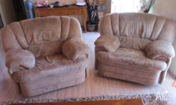 We're moving next week these 2 recliner sofa chairs