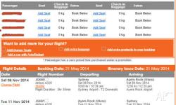 2 return tickets (08/11/2014 to 11/11/2014 Sydney-Ayers
