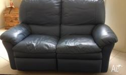 2 SEAT LEATHER RECLINER LOUNGE IN EXCELLENT CONDITION.
