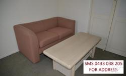 2 SEAT SOFA WITH COFFEE TABLE Inspection TOMORROW,
