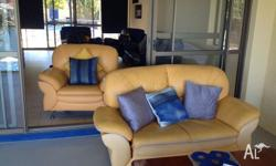 2 seater lounge and 1 lounge chair 2 seater lounge has