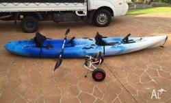 2 Seater Full size Kayak for Adults & Dogs Great sturdy