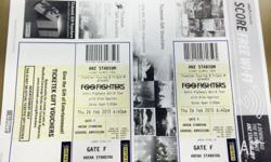 I have 2 x Arena standing tickets to the Foo Fighters