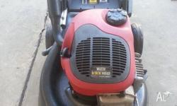 2 stroke victa lawn mower runs great has been serviced,