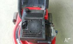 4 stroke victa mower, runs great has been serviced,