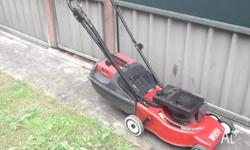hi selling my lawnmower in very good condition and easy