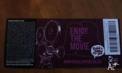 Offer to sell 2 student Hoyts movie Tickets as I am no