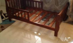 2 wooden sleigh beds in good condition. Prefer to sell