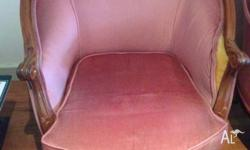 2 x 1950's antique chairs Pretty good condition 1 has a