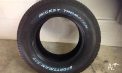 2 x 255/60/15 Mickey Thompson Sportsman/ST Tyres. Brand