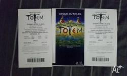 2 x Adult Premium Tickets to Cirque Du Soleil Totem for