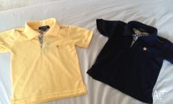 I am selling two boys Burberry Polos. They are used