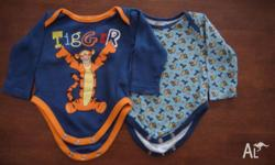 2 x very cute Disney Tigger body suits in EUC, only