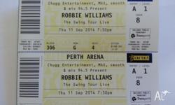 2 x Robbie Williams Swing Tour tickets - gold seating.