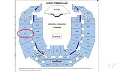 Selling 2 hard copy tickets to Justin Timberlake: The