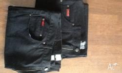 I have for sale 2 pairs of near new black cotton men's