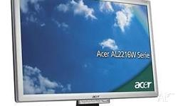 Acer AL2216W Monitors, Both one owner, used and in