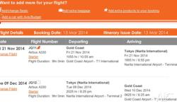 Have two return flights from Gold Coast airport to
