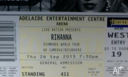 2 x General Admission, Rihanna Diamonds World Tour