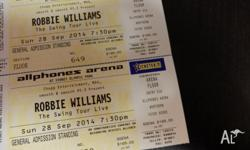 2 tickets for Robbie Williams-The swing Tour live-