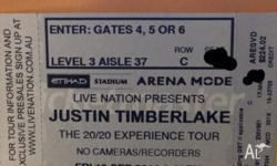 I'm selling two tickets to Justin Timberlake's concert