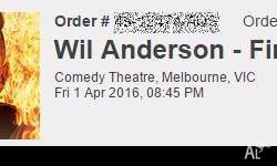 2 seats with a great central view for Wil Anderson's