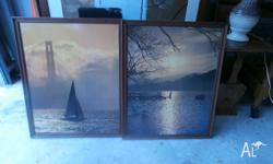 2 x Timber Framed Pictures $30 for both. dimensions are