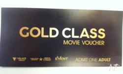Hi 2 X Village cinema GOLD CLASS tickets for sale for