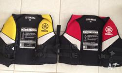 2 X Yamaha PFD�s for sale - $100 for both Size XL and