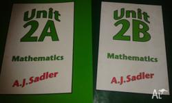 Unit 2A and 2B Maths textbooks for sale. Great