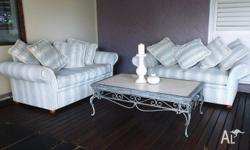 2x 2 seater couches each with 4 large cushions Also