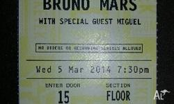 I have 2 x Bruno Mars tickets to his sold out show at