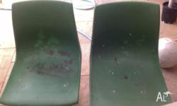 Swivel bucket seats, green. Good used condition. Pick