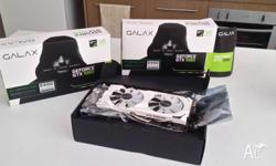 2 near new gtx1060 exoc galax white 6 gb.. Both have